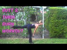 #Butt & #Thigh Burn #Workout.   Tones & Burns Calories.