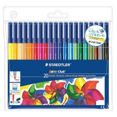 Buy Staedtler Noris Club 326 WP20 Fibre Tip Pen In Wallet - 20 Assorted Colours at Amazon UK. Free delivery on eligible orders.