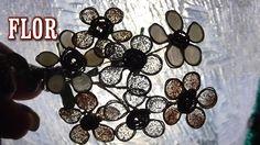 Flores de alambre y esmalte transparente, con plata y dorado, ideales para bisutería, adornos de comunión , o regalo de boda QUIERES VER TRABAJOS RECICLADOS?...