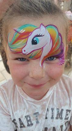 Face Painting Designs, Paint Designs, Unicorn, Carnival, Carnavals, A Unicorn, Unicorns