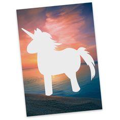 """Postkarte Einhorn Comic aus Karton 300 Gramm  weiß - Das Original von Mr. & Mrs. Panda.  Jedes wunderschöne Motiv auf unseren Postkarten aus dem Hause Mr. & Mrs. Panda wird mit viel Liebe von Mrs. Panda handgezeichnet und entworfen.  Unsere Postkarten werden mit sehr hochwertigen Tinten gedruckt und sind 40 Jahre UV-Lichtbeständig. Deine Postkarte wird sicher verpackt per Post geliefert.    Über unser Motiv Einhorn Comic  """"Sei immer du selbst. Außer du kannst ein Einhorn sein. Dann sei ein…"""