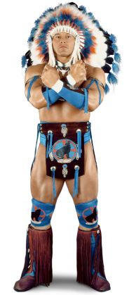 """Tatanka  Height: 6'2""""  Weight: 285 lbs.  From: Pembroke, N.C.  Signature Move: Indian Death Drop"""