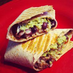 Random musings of a cluttered kitchen...: Meatless Monday: Black Bean Avocado Burritos
