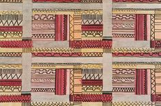 Printed textile design by Jacqueline Groag, produced in 1930.
