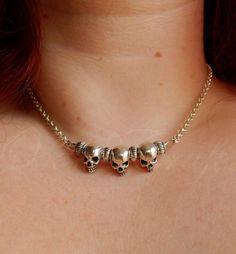 """Ooak☥Craft - 'No hay dos sin tres' necklace > Collar """"No hay dos sin tres"""""""