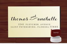 Personalized Address Stamps (Search etsy.com for RETURN ADDRESS STAMP)
