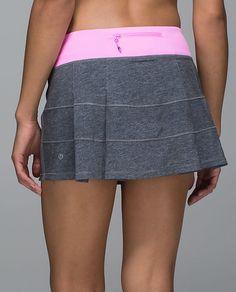 lululemon Pace Rival Skirt II*R   Vintage Pink/Heathered Black