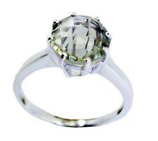 Green Amethyst 925 Sterling Silver appealing Designer Ring KMOQ UK