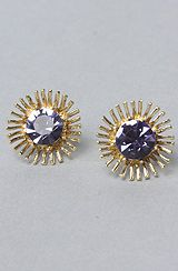 Betsey Johnson The Tzarina Princess Spike Stud Earrings