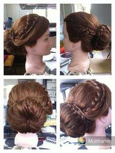 Donut hairstyle with braid