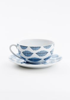 House of Rym porcelain cup and saucer (arbour harbour pattern).