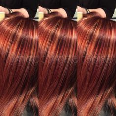 """""""Burnt Sienna"""" inspired color with my own little twist! Hair Color Auburn, Auburn Hair, Red Hair Color, Blonde Color, Cool Hair Color, Red Hair With Lowlights, Red Hair With Highlights, Copper Highlights, Red Blonde Hair"""