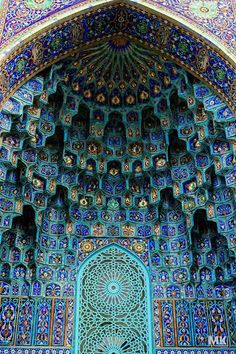 A beautiful mosque with spectacular tile patterns. St. Petersburg, Russia