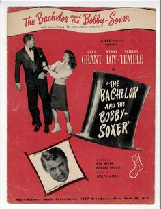 SHIRLEY TEMPLE MOVIE Sheet Music 1947 The Bachelor And The Bobby Soxer