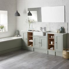 Burford Pebble Grey Fitted Bathroom Furniture | Roper Rhodes