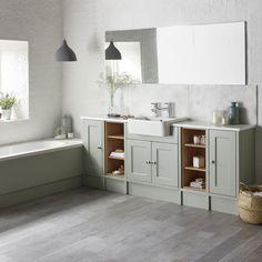 Burford Pebble Grey Fitted Bathroom Furniture | Roper Rhodes