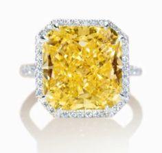 Tiffany & Co. Canary Diamond Ring