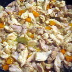 Esterházy csirkeragu Recept képpel - Mindmegette.hu - Receptek Ciabatta, Wok, Poultry, Beef, Chicken, Meat, Backyard Chickens, Woks, Ox