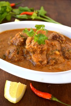 kofta curry with meat balls