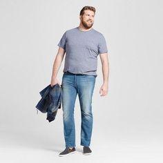 Men's Big & Tall Slim Straight Fit Jeans - Mossimo Supply Co. Medium Wash 30x36, Blue