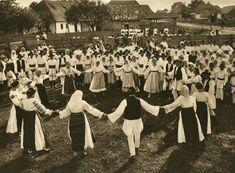 Hora, a Traditional Romanian Dance, by Kurt Hielscher, 1933 Bucharest Romania, Folk Dance, Wild Nature, World Cultures, Photomontage, Slovenia, Macedonia, Dolores Park, Travel