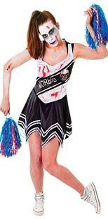 Zombie Cheerleader- Black Halloween Costume http://www.partypacks.co.uk/zombie-cheerleader-black-pid94138.html