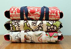 DIY casserole carriers.