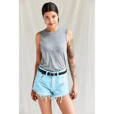 Urban Renewal Recycled Overdyed Cutoff Short ($54) ❤ liked on Polyvore featuring shorts, short shorts, cut off shorts, cutoff shorts, denim cutoff shorts and relaxed shorts
