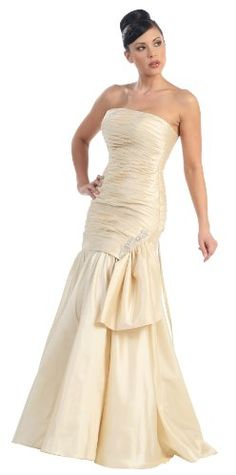 Strapless Taffeta Dress Prom Long Gown #2754 « Dress Adds Everyday