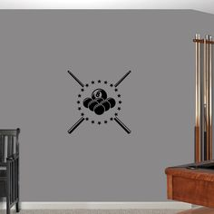 Sweetums Pool Billiard Small Wall Decal