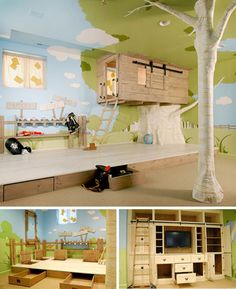 Child's bedroom, treehouse, storage