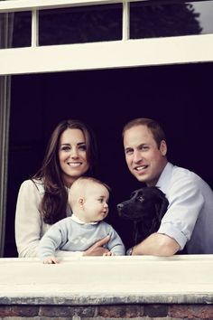 The second official Royal Family portrait (with pup Lupo!), released March 18, 2014.