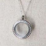 Medium Silver Locket with Crystals  My fav bling-y locket.  http://sheree.origamiowl.com