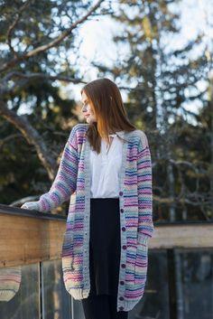 Naisen neuletakki Novita 7 Veljestä ja 7 Veljestä Raita | Novita knits