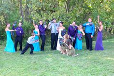 we pulled apart Nerf guns for our groomsmen and painted them in our wedding colors along with swords and shields for the bridesmaids used them for pictures and the nerf target coarse we set up for them and our guests (namely their kids) to play in