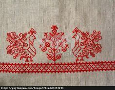 Background. Russian folk embroidery