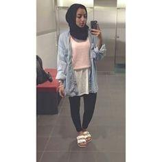Denim Hijabi outfit