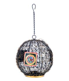 This netted ball shaped hanging tea light holder is beautifully hand crafted . The light from this netted tea light holder diffuses beautifully from the decorative work. This exquisite piece when hung in the room will definitely catch the eyes of your guests because of its vibrant appeal and shimmering light effect