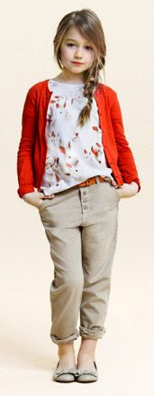 is your little girl more of a tomboy? here's a look with pants that is still girly