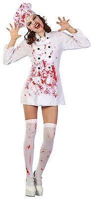 Ladies bloody chef halloween #theme fancy dress #costume #scary blood outfit new,  View more on the LINK: 	http://www.zeppy.io/product/gb/2/291485082616/