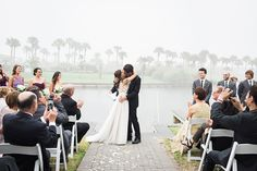 foggy waterfront ceremony / photo by Brooke Images