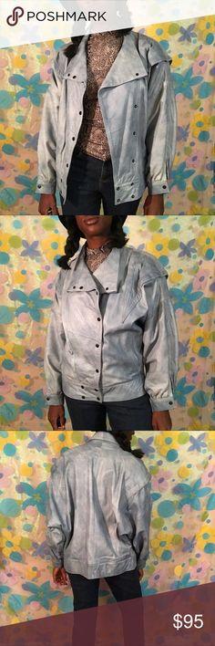 Vintage sky blue Genuine lamb skin jacket small Yowza!!!! Beautiful sky blue lamb skin jacket!! Size Large. Very soft and comfortable. Ready to wear!! 🦋🦋🦋 LINK IN BIO!!! #jacket #coat #vintage #retro #cuerosibanez #lambskin #skyblue #womenswear #womensfashion #womensclothes #outerwear #sexy #couture #forsale #depop #poshmark #ebay #vinted #smallbusiness #blackowned #blackgirlmagic Jackets & Coats Blazers
