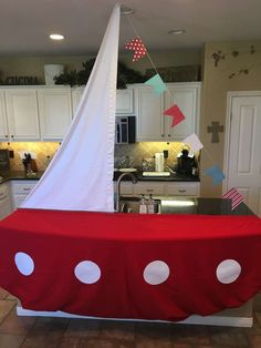 How fantastic is this sailing boat dessert table! I love it!!! See more party ideas and share yours at CatchMyParty.com