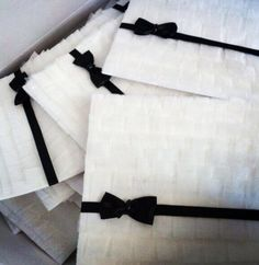 Hand crafted invitation cards