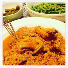 Kip Besengek met sambal boontjes