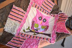 PATTERN RAG QUILT, Owl Applique, Baby Crib Blanket, Vintage, Instant Download