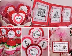 Queen of Hearts Party, Alice in Wonderland Party - PRINTABLE CUSTOMIZED INVITATION - Cutie Putti Paperie. $15.50, via Etsy.