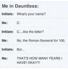 I think I would have fun in dauntless . . . But yeah that's me.