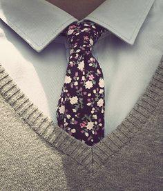 Floral tie, love it