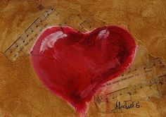 This original love song heart painting is available in my Etsy shop.  Click here 2 shop: http://ift.tt/2vyQqZS  Gifts for $25